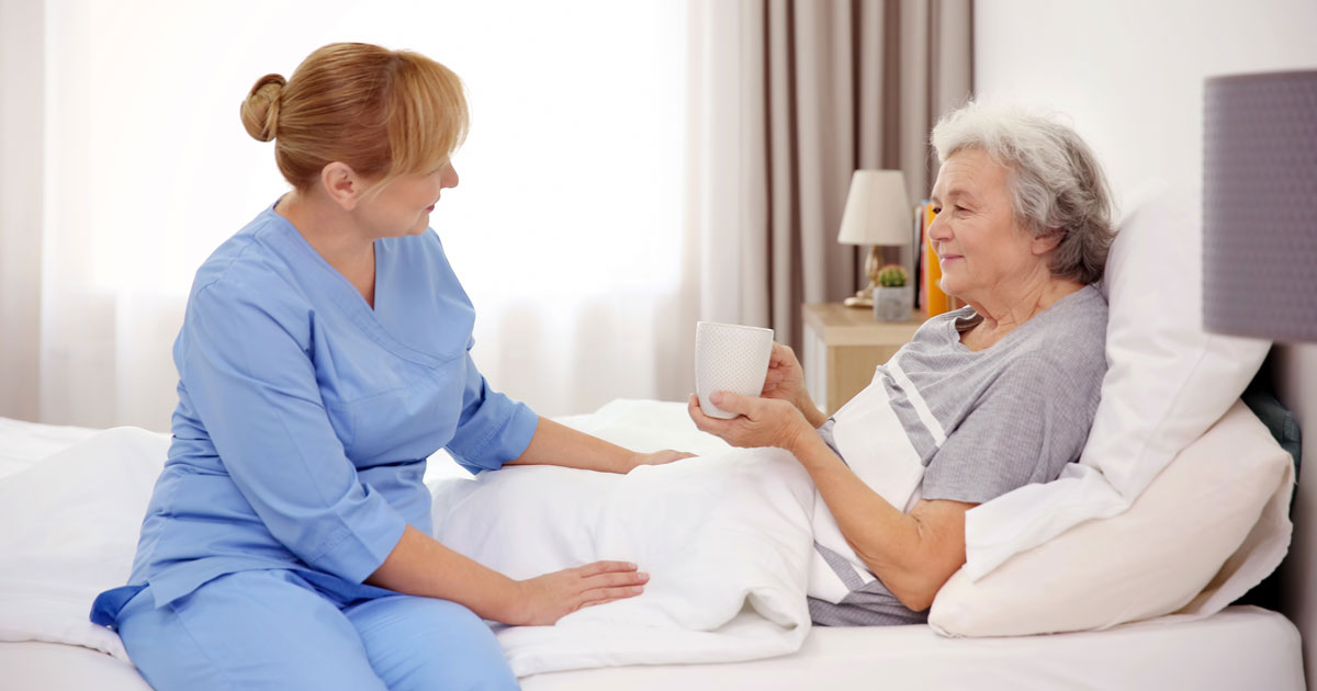Hospice Caregiver and Woman